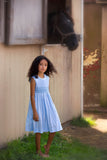 Pretty Polka Dots Dress - Blue, , Carriage Boutique, Imagewear