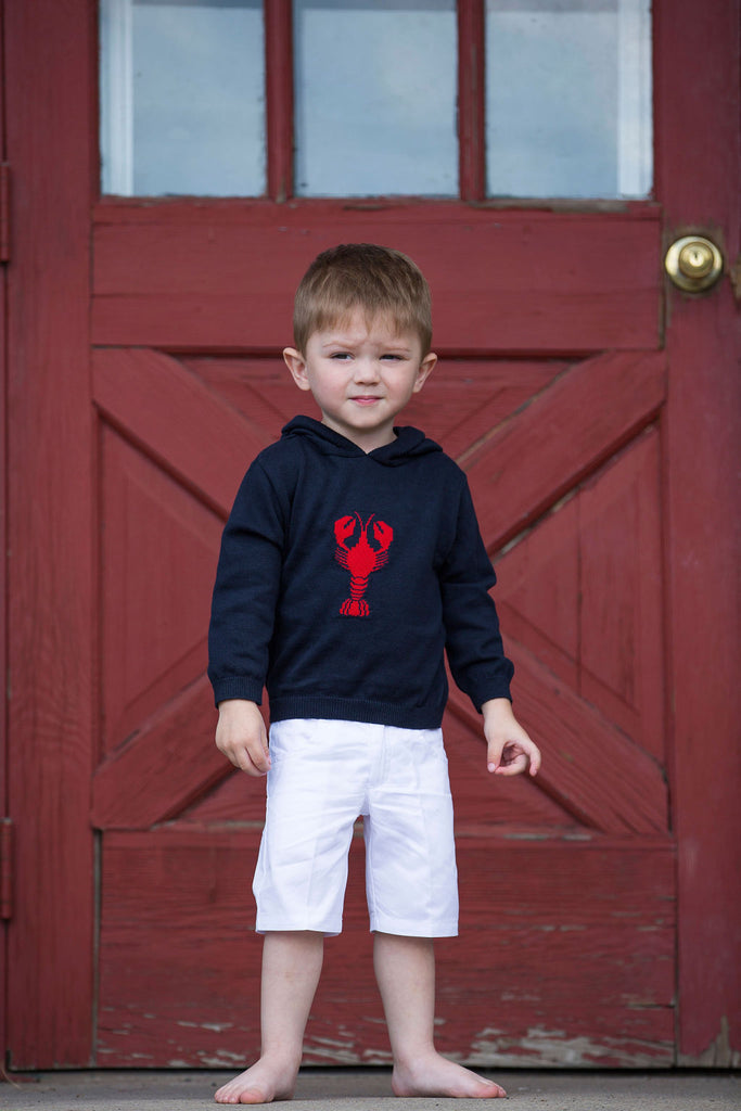Kickin Crawfish Zip Back  Sweater - Navy, , Carriage Boutique, Imagewear