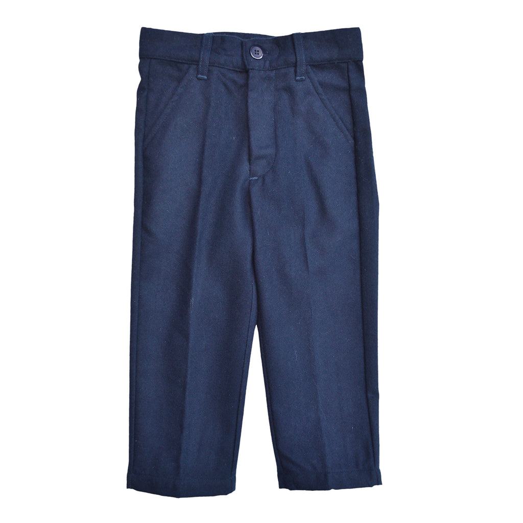 Navy Solid Pants, , PICCINO PICCINA, Imagewear
