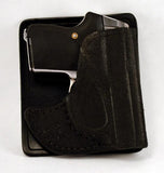 Aker Rear Pocket Black Leather Holster