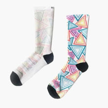 Athletic Socks | Funky Socks -Triangle