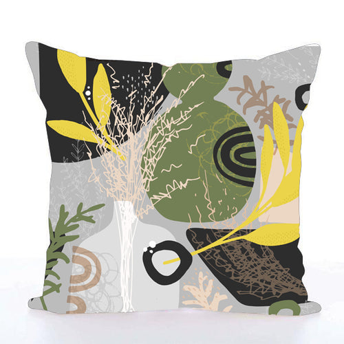 Square Toss Cushion Cover | Vase