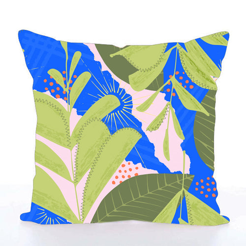 Square Toss Cushion Cover | Plants