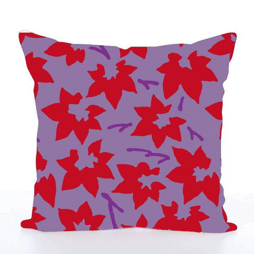 Square Toss Cushion Cover | Japanese maple leaves