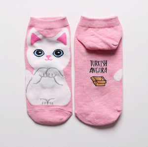 kawaii cute socks cat ankle socks-Boutique Local NOVMTL