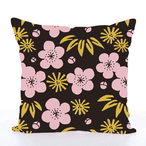 Square Toss Cushion Cover | Plum Blossom