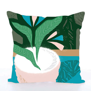 Square Toss Cushion Cover | Plant