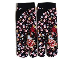 Japanese Tabi Socks | Geisha - Black