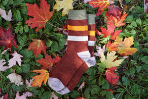 wool socks stripes red|Athletic Funky Socks|boutique local NOVMTL