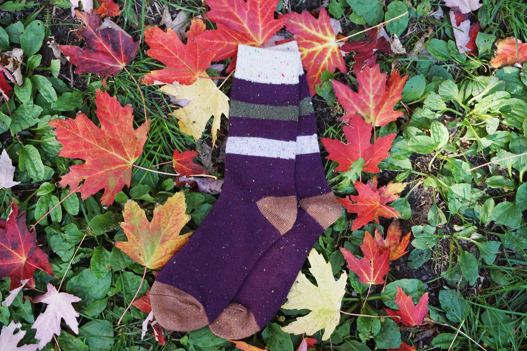 Best Seller  | Wool Socks | Purple