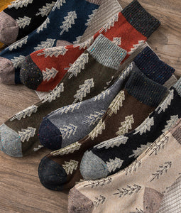 Holiday Special | Wool Socks | Pine Tree (Black)