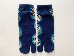 Japanese Tabi Ankle Socks | Daruma doll  Blue