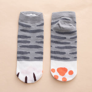 cat paws ankle socks cotton socks kawaii cute-Boutique Local NOVMTL