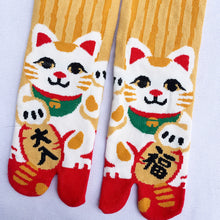 Maneki-neko cat socks