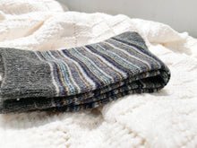 Cozy and Warm | Wool Socks | Grey Stripes
