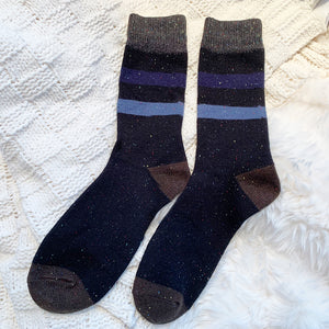 Best Seller | Wool Socks | Black Stripes
