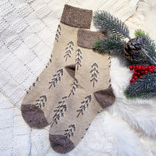 wool and cotton blend winter socks
