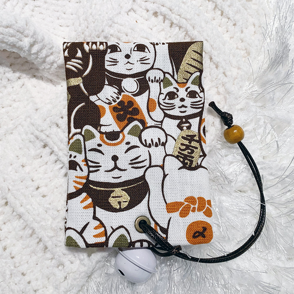 Card holder | Maneki-neko Brown