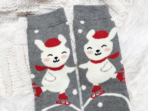 Cozy Cotton Socks - Skating