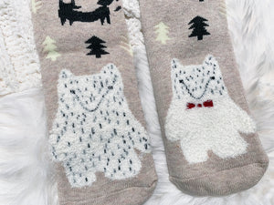 Cozy Cotton Socks - Bear