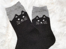 Cozy and Warm | Wool Socks | Black Cat