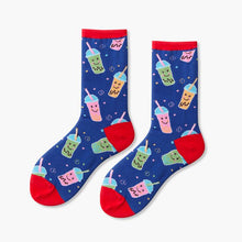bubble tea socks kawaii socks cute socks funky socks