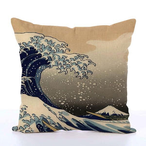 Square Toss Cushion Cover | The Great Wave off Kanagawa - novmtl