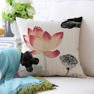 Square Toss Cushion Cover | Lotus Style A - novmtl