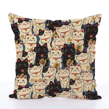 Square Toss Cushion Cover | Lucky Cat Maneki-Neko - novmtl