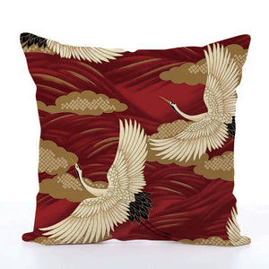 Square Toss Cushion Cover | Red - novmtl