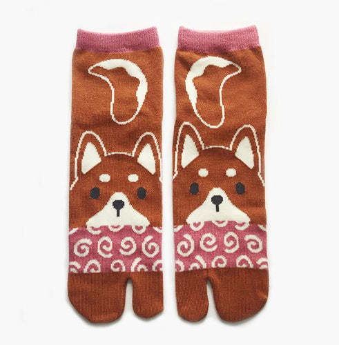 akita tabi socks dog puppy cute kawaii socks toe socks