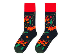 floral cotton socks funky socks colorful socks