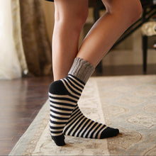 itch free wool socks| cashmere wool socks stripes cozy| Boutique Local NOVMTL