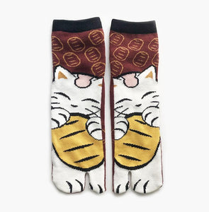 Japanese Tabi Ankle Socks | Coffee Cat
