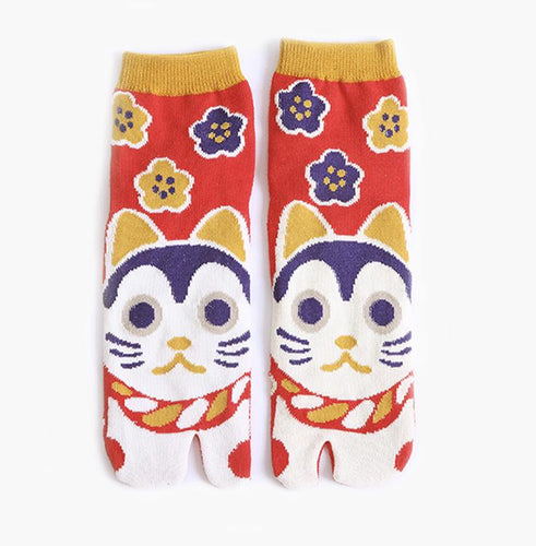 cat tabi socks toe socks Japanese design cotton