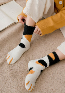 room socks kawaii cat paws