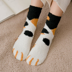 fluffy cozy room socks indoor
