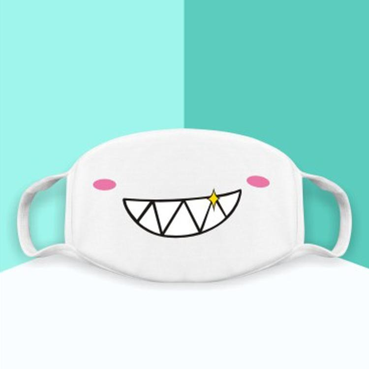 Japanese Emoticons /  Kaomoji Face Mask- Smirking face - novmtl