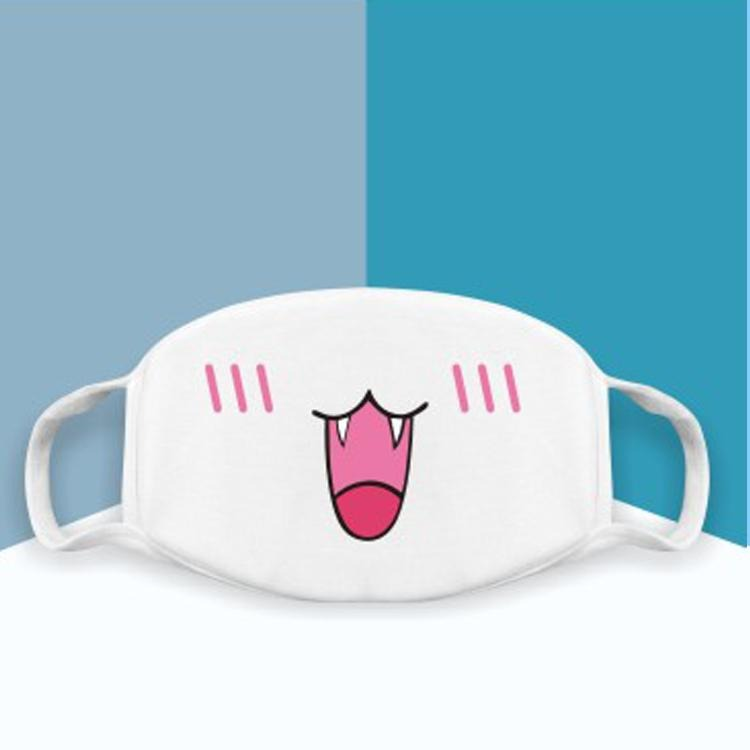 Japanese Emoticons /  Kaomoji Face Mask-Cat face - novmtl