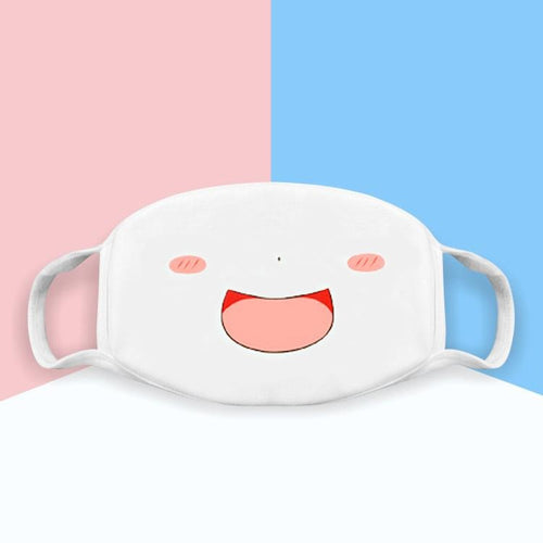 Japanese Emoticons / Kaomoji Face Mask- Laughing - novmtl