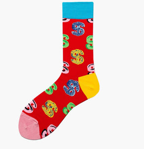 men's Crew men's socks women's socks funky | money-cash-red| Boutique Local NOVMTL