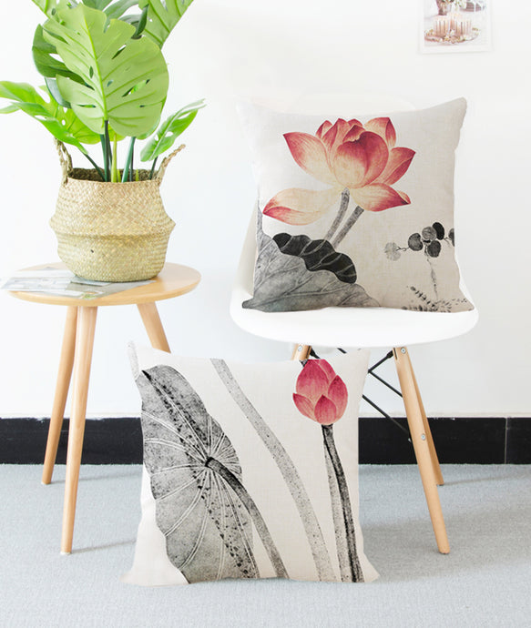 Square Toss Cushion Cover | Lotus Style F