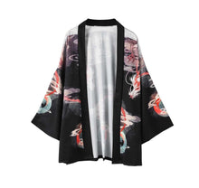 Black and Red Dragon Kimono Shirt