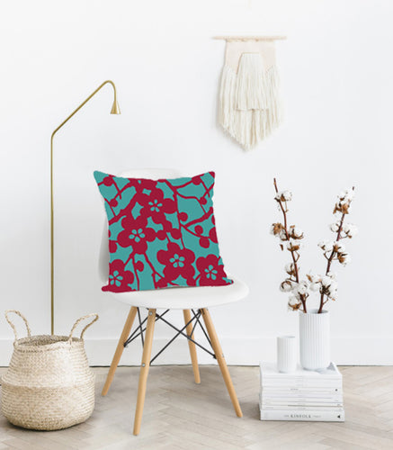 Square Toss Cushion Cover | Cherry Blossom