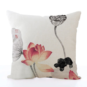 Square Toss Cushion Cover | Lotus Style B - novmtl