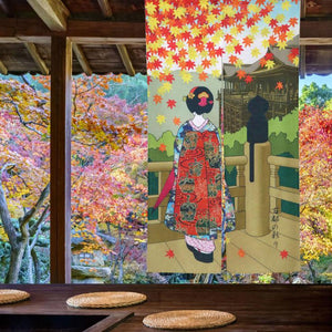 geisha wall hanging curtain home decor