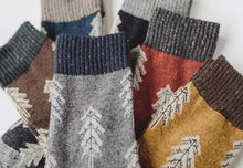 Holiday Special | Wool Socks | Pine Tree (Blue)