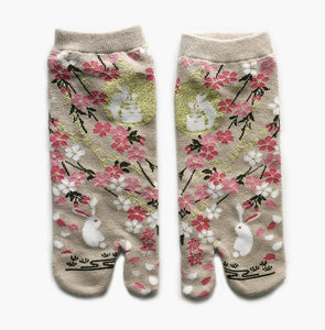 Japanese Tabi Ankle Socks | Rabbit Beige