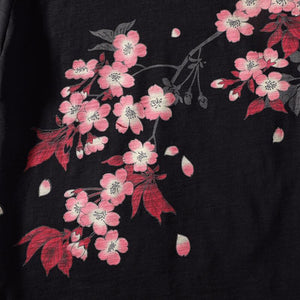Koi Fish embroidery T-Shirt (Black)