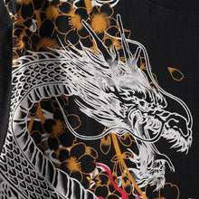 The Dragon VS Tiger embroidery T-Shirt (Black)